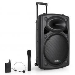 "Port15VHF-BT 38cm (15"") PA-Anlage mit USB SD AUX MP3 Bluetooth"