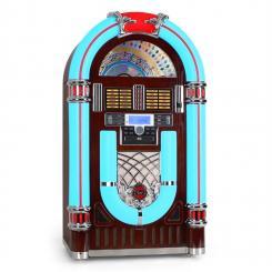 Audiola Majestic JB 3710TT Jukebox USB SD CD AUX RADIO Plattenspieler LED