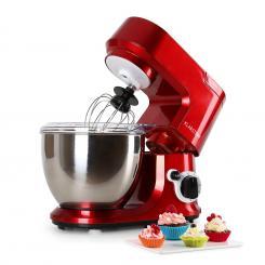 Carina Rossa Küchenmaschine 800W 1,1 PS 4 Liter Rot