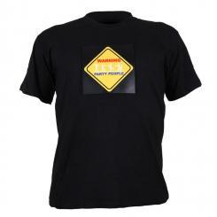 STS-PAR T-Shirt LED 3-Farben Warning Party People Design Größe L