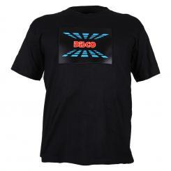 T-Shirt LED 3-Farben Disco Design Größe M