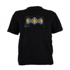T-Shirt LED 2-Farben Batman Design Größe L