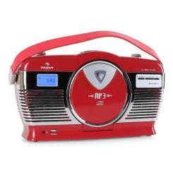 RCD-70 Retroradio UKW USB CD Batterie rot Rot