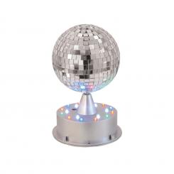 LED Spiegelkugel 13cm Leucht-Standfuß LED