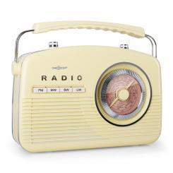 NR-12 Kofferradio UKW MW Retro 50er Jahre creme gelb