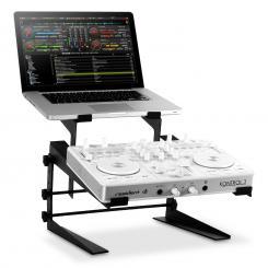 DJX-250 Ständer Standfuß Laptop Mixer Controller Schwarz