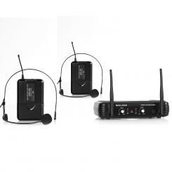 UHF-250 Duo2 2-Kanal UHF-Funkmikrofon-Set 2 x Headset-Mikrofon