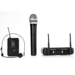 UHF-250 Duo3 2-Kanal UHF-Funkmikrofon-Set 1 x Handheld / 1 x Headset-Mikrofon