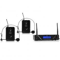 UHF-450 Duo2 2-Kanal UHF-Funkmikrofon-Set 2 x Headset-Mikrofon