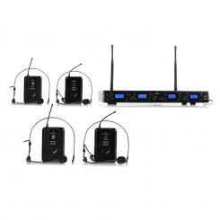 UHF-550-2 Quartett2 4-Kanal UHF-Funkmikrofon-Set 4 x Headset-Mikrofon