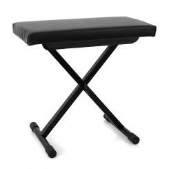 Piano Bench Keyboard Bank höhenverstellbar schwarz