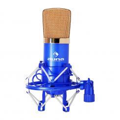 CM001BG Studio-Mikrofon blau/gold Kondensator Gesang Instrumente XLR Blau