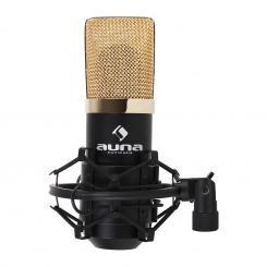 MIC-900BG USB Kondensator Mikrofon schwarz/goldNiere Studio Schwarz | Gold