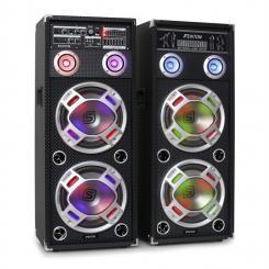 """KA-210 aktives Karaoke-PA-Lautsprecher Set USB SD AUX 2x 25 cm (10"""")"""