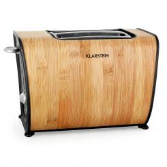 Bamboo Garden Toaster 870W Doppelschlitz Bambus