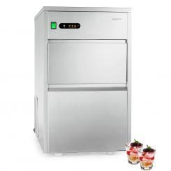 Powericer XXL Eiswürfelmaschine Industrie | Leistung: 160 W | Produktionsvolumen 25 kg/Tag | 6 kg Vorratsbehälter | Edelstahl XXL