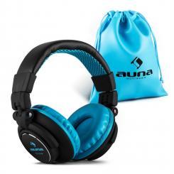 Base DJ Kopfhörer geschlossen klappbar - schwarz/blau Blau