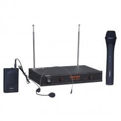 VHF2H kabelloses Mikrofonsystem Handmikrofon Headset