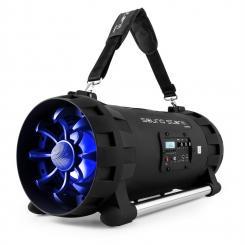 Soundstorm Ghettoblaster Bluetooth NFC USB Akku schwarz/blau Blau