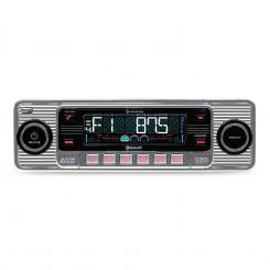 RMD-Sender-Two Autoradio Bluetooth USB SD MP3 CD Retro silber Silber