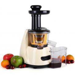 Fruitpresso Bella Morena Slow Juicer Saftpresse 150W 70 U/min Creme