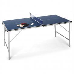 King Pong Tischtennisplatte klappbar blau Blau