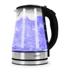 Blue Lagoon Wasserkocher 2200W 1,7L LED-Beleuchtung Edelstahl schwarz