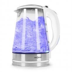 Blue Lagoon Wasserkocher 2200W 1,7L LED-Beleuchtung Edelstahl weiß