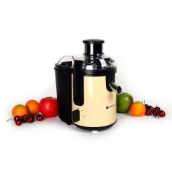 Fruit Tornado Entsafter 400W creme Edelstahl 20.000U/min Creme