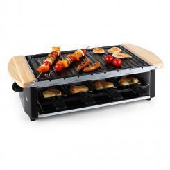Chateaubriand  Raclette-Grill Grillplatte Grillspieße 8 Personen 1200W Grillplatte