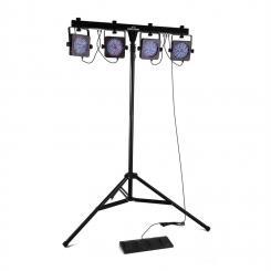 Mansfield LED-Lichteffekt-Kit Strahler Stativ Traverse Tasche DMX RGB