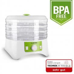 Appleberry Dörrgerät weiß/grün 400W Dehydrator 4 Etagen BPA-frei Weiß