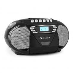 KrissKross Ghettoblaster USB MP3 CD FM portabel schwarz Schwarz
