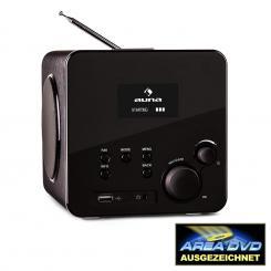 Radio Gaga Internetradio WLAN/LAN DAB/DAB+ UKW USB AUX schwarz Schwarz