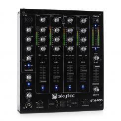STM-7010 4-Kanal DJ-Mischpult USB MP3 EQ