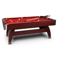 Brighton Billardtisch 7' (122x82x214 cm) Zubehörset Holzdekor rot Rot