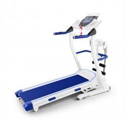 Pacemaker FX5 Laufband 1,5 PS 12 km/h Pulsmesser Massagegerät Sit-up Weiß