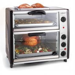 All-You-Can-Eat Doppel-Backofen mit Grillplatte 42 Liter 2400 Watt