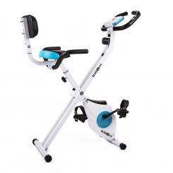 Azura Pro Fahrrad-Heimtrainer Rückenlehne Seitenhalterung klappbar 100kg Pro: Rückenlehne / Seitengriffe