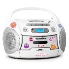 Boomberry Ghettoblaster CD USB MP3 Batteriebetrieb Sticker-Set