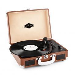 Peggy Sue Retro-Plattenspieler LP USB braun Braun
