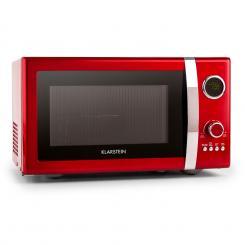 Fine Dinesty 2in1-Mikrowellen-Ofen Retro 23L 1000W 12 Programme rot Rot