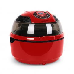 VitAir Heißluftfritteuse 1400W Grillen Backen 9 Liter rot Rot