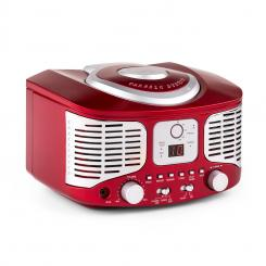 RCD320 Retro-CD-Player UKW AUX rot Rot