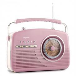NR-12 Kofferradio UKW MW Retro 50er Jahre baby rosa