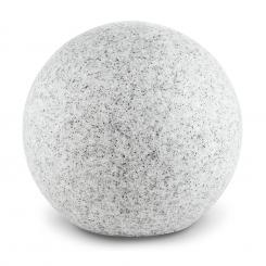 Shinestone XL Kugelleuchte Außenleuchte Gartenlampe 50cm Steinoptik Grau | 50 cm