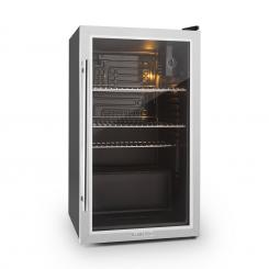 Beersafe XXL Kühlschrank 85 Liter Klasse A+ Glastür Edelstahl Silber | 80_litres