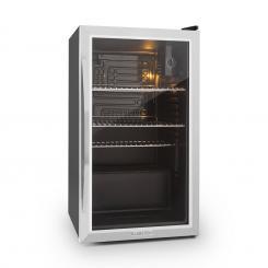 Beersafe XXL Kühlschrank 80 Liter Klasse A+ Glastür Edelstahl Silber | 80 Ltr