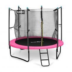 Rocketgirl 250 Trampolin 250cm Sicherheitsnetz innen, breite Leiter pink Pink | 250 cm