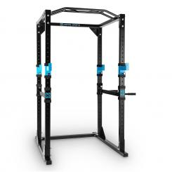 Tremendour Power Rack Schwarz Homegym Stahl Schwarz | WITHOUT_LAT_PULL